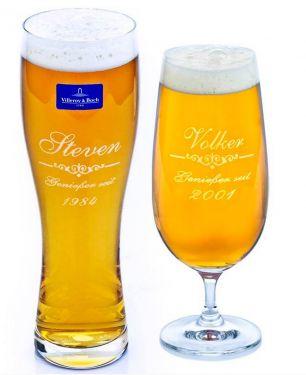Bierglas mit Gravur #0