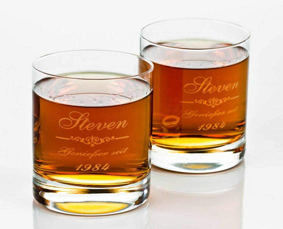 whiskyglas mit gravur genie er geschenk f r m nner. Black Bedroom Furniture Sets. Home Design Ideas
