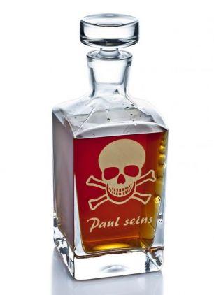 Whiskykaraffe mit Totenkopf #0