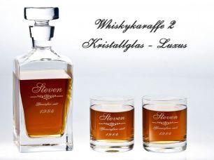 Whiskykaraffe mit Gravur #1