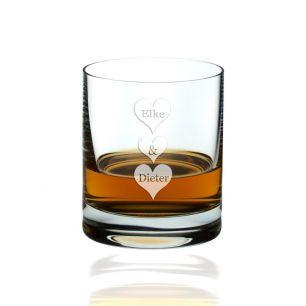 Whiskyglas - Herzen mit Wunschnamen #0