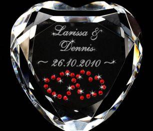 Herz-Diamant mit Gravur #0