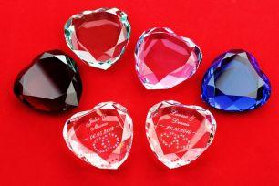 Herz-Diamant mit Gravur #1