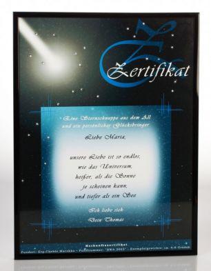 Zertifikat Sternschnuppe - Echte Meteoriten #3