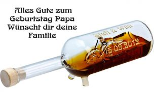 Chopper-Geschenkflasche mit Gravur #0
