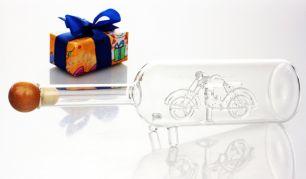 Chopper-Geschenkflasche mit Gravur #2