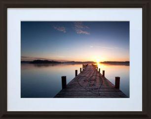 Bild Sonnenuntergang mit Herz #0