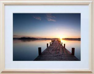 Bild Sonnenuntergang mit Herz #1