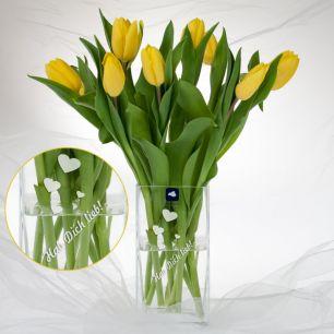 Blumenvase mit Wunschgravur #0