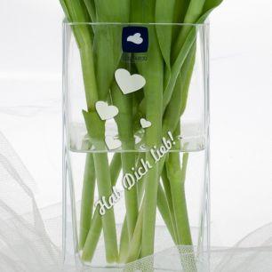 Blumenvase mit Wunschgravur #2